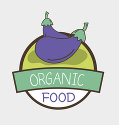 Fresh eggplants organ vegetables symbol vector