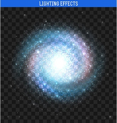 Galaxy effect Clusters of stars planets vector image