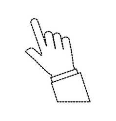 Hand touch finger gesture icon vector