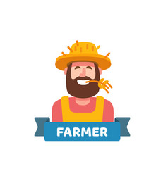 happy cute farmer vector image