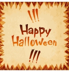 Happy Halloween message paper design background vector image