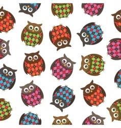 harlequin owls vector image