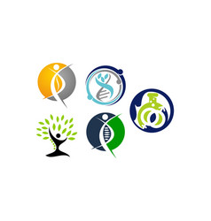 healthy holistic center set vector image