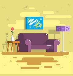 Home indoor interior flat vector