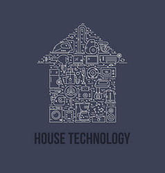 house appliances concept vector image