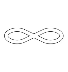 infinity symbol the black color icon vector image