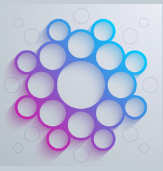 Infographics blue and purple gradient circles vector image