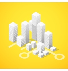 Isometric city block vector