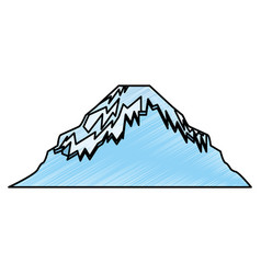 Japanese mountain isolated icon vector