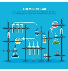 Laboratory or lab for chemical experiments vector