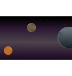 Landscape of scape with planets vector image
