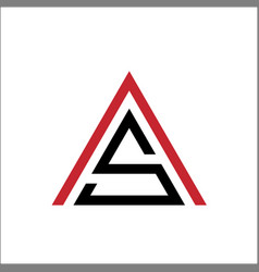 letter as triangle logo template vector image