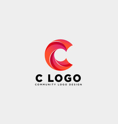 Letter c community human logo template icon vector