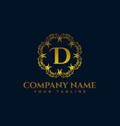 letter d luxury logo vector image