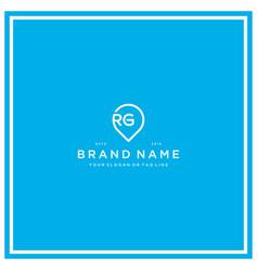 Letter rg pin logo design vector