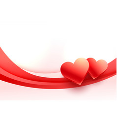 Lovely 3d hearts background for valentines day vector