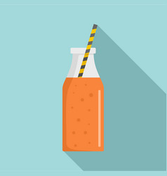 mango smoothie icon flat style vector image