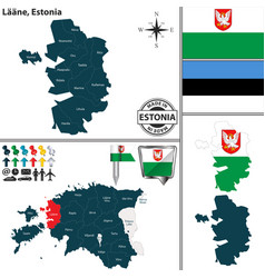 Map of laane estonia vector