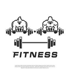 masculine gorilla logo for sports companies vector image