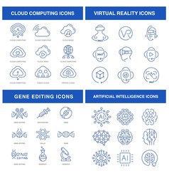 modern technologies icons set vector image