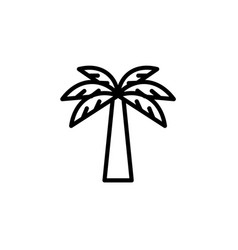 Palm icon thin line black on white background vector
