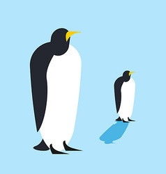 Penguin isolated Arctic birds Animal Antarctica vector image