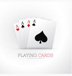 poker card four aces background vector image