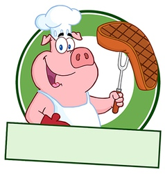 Pork steak cartoon vector image