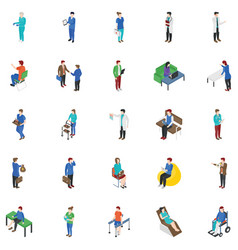Professional people characters collection vector