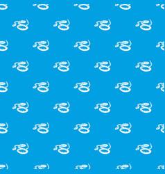 Rattlesnake pattern seamless blue vector