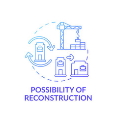 Reconstruction possibility concept icon vector