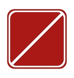 Restricted square sign road traffic vector