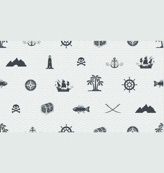 Seamless background on pirate and sea theme vector