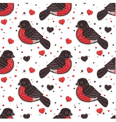 Seamless pattern with decorative birds vector