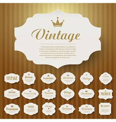 Set of vintage frame vector