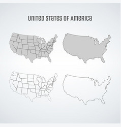 simplified map united states america map vector image