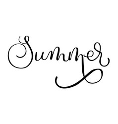 summer lettering on white background travel vector image