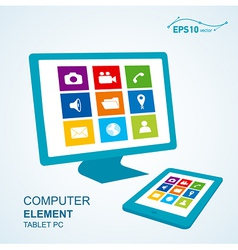 tablet pc computer display vector image