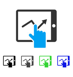 Tap trend on pda flat icon vector
