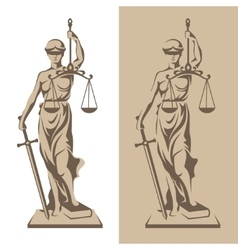 Themis statue vector image