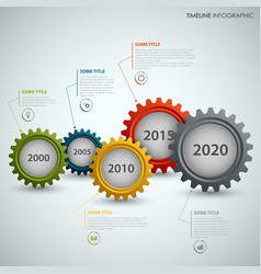 Time line info graphic with colorful design of vector