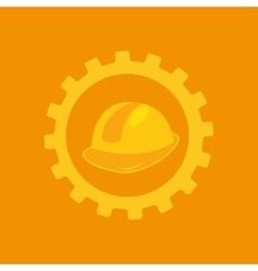 Tool box helmet construction icon design vector
