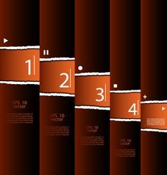 Torn paper modern design vector image