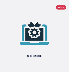 Two color seo badge icon from programming concept vector