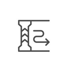 Underground parking line icon vector