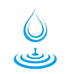 Water droplet icon splash vector