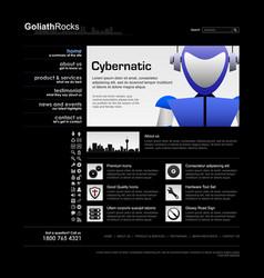 web design element template a complete set of web vector image