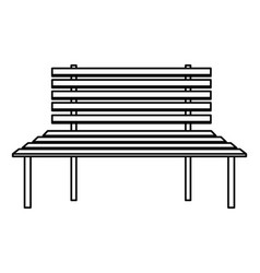 Wooden bench icon vector
