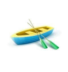 Wooden fishermans boat vector image