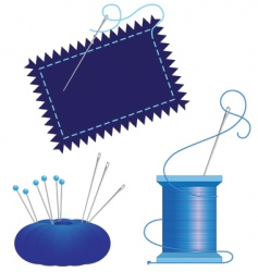 Denim needle thread vector